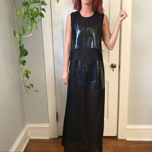 NWT Reformation Black Cut Out Spacey Maxi Dress